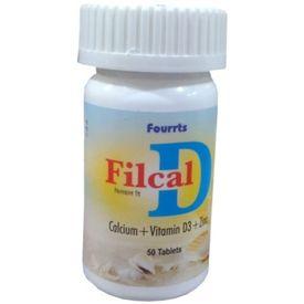 Fourrts Filcal D Calium, Vitamin D3 and Zinc Tablets