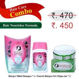 Hairgro Gel & Shampoo Combo (1 Shampoo 100ml, 2 Gel 125gms)