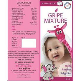 Homeo Gripe Mixture for Baby Acidity, flatulence, indigestion