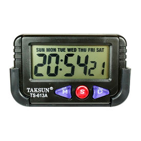Car Dashboard / Office Desk Alarm Clock and Stopwatch with Flexible Stand