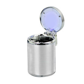 Speedwav Car Cigarette Ashtray with Blue LED-Silver