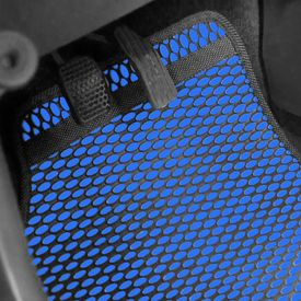 Speedwav Odourless Car Floor/Foot Mats 5 Pcs Set BLUE