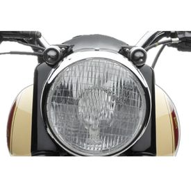 Speedwav Mesh Bike Headlight Grill Cover-Silver for Royal Enfield