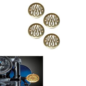 Speedwav Brass Bike Flame Indicator Covers Set Of 4 for Royal Enfield