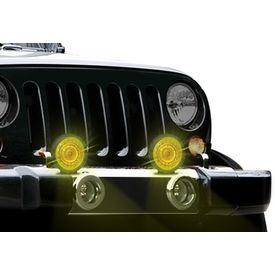 Speedwav 444AL-Y Crystal Car Fog Aux Lights Yellow