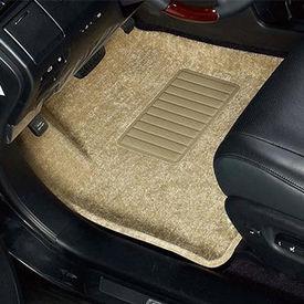 Speedwav Carpet Beige Car Floor / Foot Mats