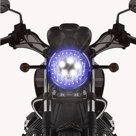 Speedwav 5 LED H4 Headlight Bulb With SMD Angel Eye