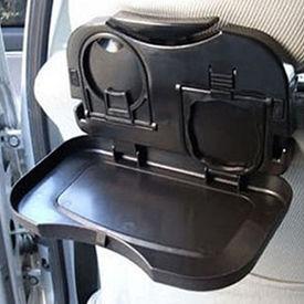 Speedwav Foldable Car Travel Dining Tray / Rack / Bottle Holder-Black