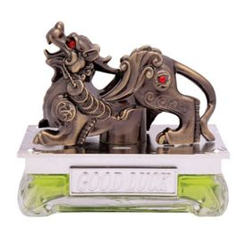 Speedwav Brass Finish Dragon Car Perfume 50ml-Green Apple