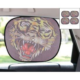 Ed Hardy Car Side Window Stick On Sunshades Set Of 4