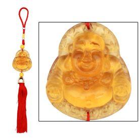 Speedwav Car Hanging Crystal Laughing Buddha - Yellow
