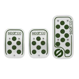 Sparco Anti Slip 3D Dot Car Pedals Kit Set Of 3-Dark Green