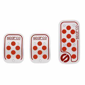 Sparco Anti Slip 3D Dot Car Pedals Kit Set Of 3-Orange