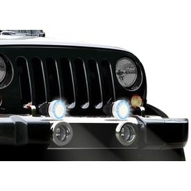 DLAA Spot Beam LED Aux Lights With Angel Eye DRL Set Of 2
