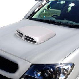 Speedwav Car Double Vent Air Intake Bonnet Scoop Silver