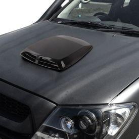 Speedwav Car Double Vent Air Intake Bonnet Scoop Black