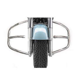 Speedwav Diamond Bike Safety Leg Crash Guard-Chrome for Royal Enfield