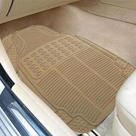 Speedwav Rubber Car Floor Mats Set of 4 BEIGE