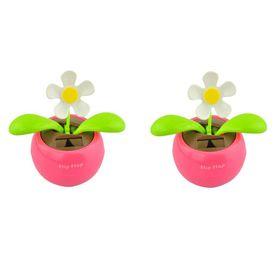 Flip Flap Dancing Solar Powered Sun Flower Plant - Set of 2