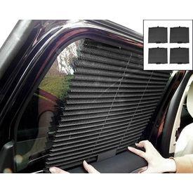 Speedwav Car Auto Folding Sunshades Curtains Black- Set of 4