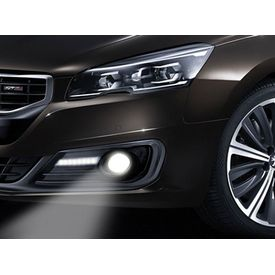 Speedwav Car Fog Lamp Cover With DRL Set of 2-Honda City Type 5 (With Hole)