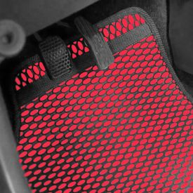 Speedwav Odourless Car Floor/Foot Mats - Red