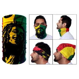 Jazzmyride Multifunctional Headwrap / Mask / Scarf-Bob Marley