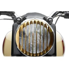 Speedwav Harley Style Headlight Cover Grill-Vertical Brass for Royal Enfield