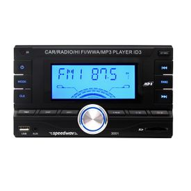 Speedwav DD-3001 Double Din Car MP3 Stereo SD-Card Slot+USB+AUX+FM+Remote