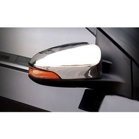 Speedwav Car Mirror Covers With Indicator Set Of 2-Silver