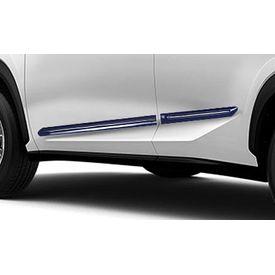 Speedwav Custom Fit Car Side Beading BLUE & Chrome