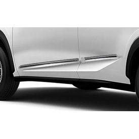 Speedwav Custom Fit Car Side Beading WHITE & Chrome