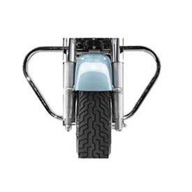 Speedwav Bike Safety Leg Crash Guard CHROME