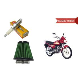 NGK Iridium Bike Spark Plug+Speedwav Air Filter