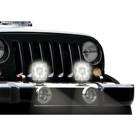 Speedwav 9 LED Car Aux Fog Light Assembly Square