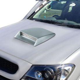 Speedwav Car Turbo Style Air Intake Bonnet Scoop Grey