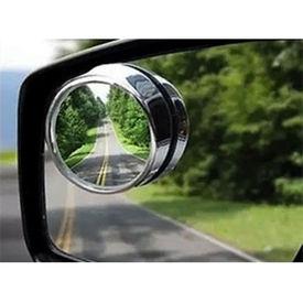 Car Blind Spot Convex Rear View Mirror CHROME Corners - Set of 2