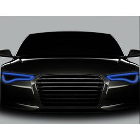 Speedwav Flexible 30cm Car Headlight Neon LED DRL Tube-Blue