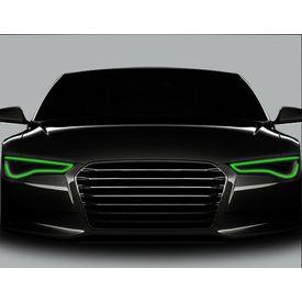 Speedwav Flexible 30cm Car Headlight Neon LED DRL Tube-Green