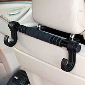 FLY Headrest Luggage Bar Hanger Car Holder - Double Hooks