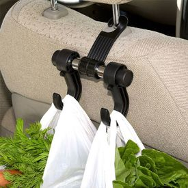 FLY Headrest Luggage Hanger Car Holder - Double Hooks