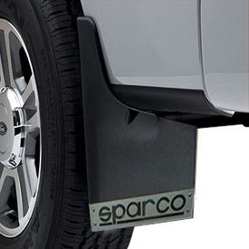 Sparco Racing Style Plastic Car Mudflaps Set Of 4 BLACK