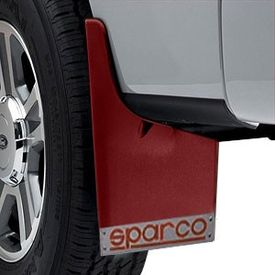 Sparco Racing Style Plastic Car Mudflaps Set Of 4 RED