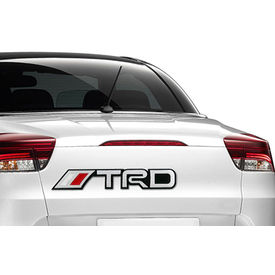 Speedwav Stylish Decorative Sticker Decal Badge Silver & Red-TRD