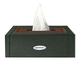 Speedwav Plastic Tissue Holder Box Black and Brown Colour