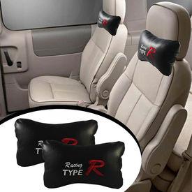 Type R Car Seat Neck Cushion Pillow - Black Colour