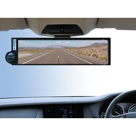 Type R Car Rear View Convex Mirror with Compass 210mm
