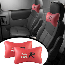 Type R Car Seat Neck Cushion Pillow - Red Colour