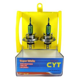 Speedwav Xenon H4 CYT Pure White Bulbs for Bikes/Scooters
