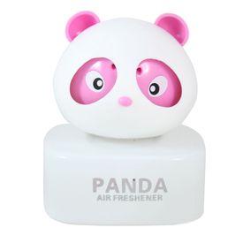 Panda Car Natural Air Freshner Freshener Liquid Perfume Bottle Base-Pink